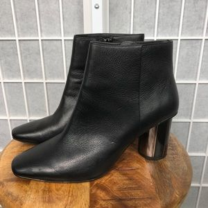 Zara Woman Black Ankle Boots Size 40